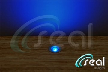 10 x 18mm led lights deck decking kitchen plinth blue now with