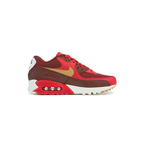 Nike Air Max 90 Hommes Style Essentiels: 537384 Hommes 537384-607 Jeu Rouge / Or Élémentaire / Équipe Rouge
