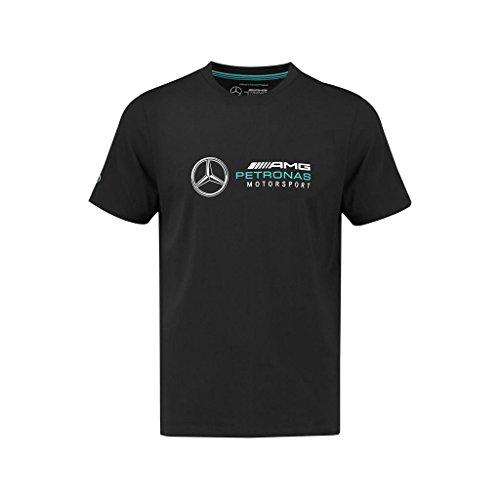 Mercedes Benz AMG Petronas Formula 1 Men's Black Logo T-Shirt (X-Large)