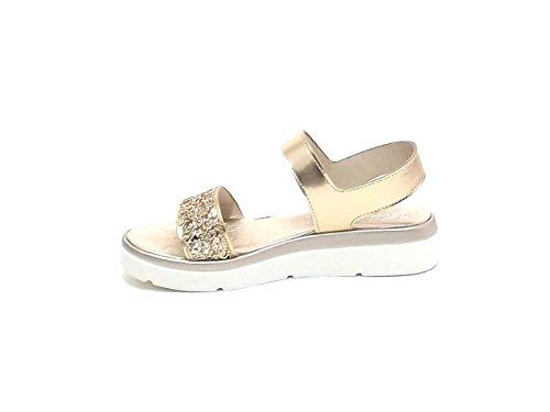 Susimoda scarpa donna, sandalo 2549, pelle platino E7102