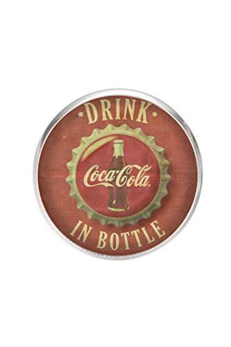 Stainless steel pin brooch, diameter 25mm, pin 0.7mm, handmade illustration Coca-Cola Vintage