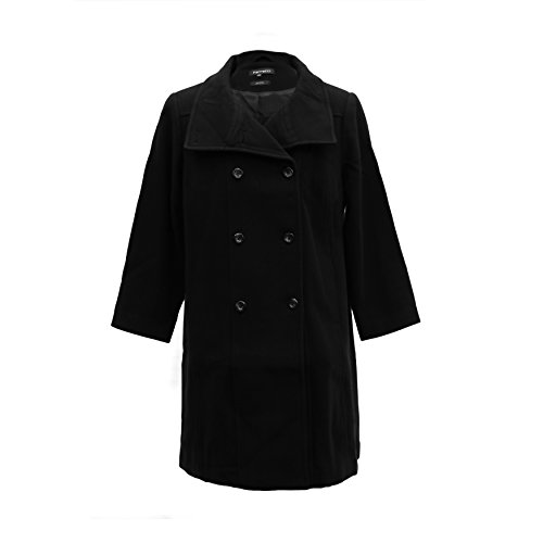 Ferrecci-Womens-Plus-Size-Black-Double-Breasted-Peacoat-Jacket