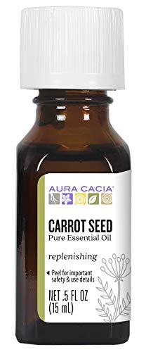 Aura Cacia Pure Carrot Seed Essential Oil | 0.5 fl. oz. | Daucus carota