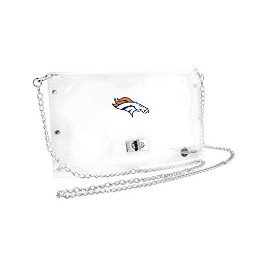 NFL Denver Broncos Clear Envelope Purse