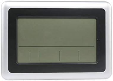 Maybe-QMaybe-Q LCD Digital de Pared Grande del termómetro del Reloj del Calendario de Escritorio Medidor de Tiempo Alarma electrónica Interiores ...
