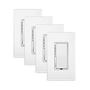 Insteon 2477DH-4PK Dual-Band High Wattage SwitchLinc Dimmer (4 Pack), White from Smarthome Technologies