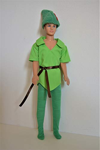 Handmade Doll Clothes Peter Pan Costumes fit 12