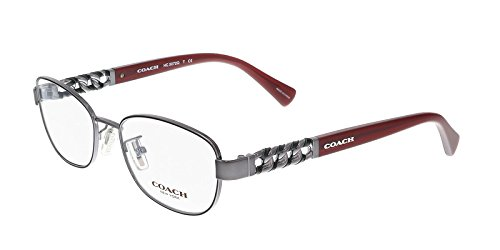 COACH Eyeglasses HC 5072Q 9237 Gunmetal/Milky Black Cherry - Coach Reading Glasses