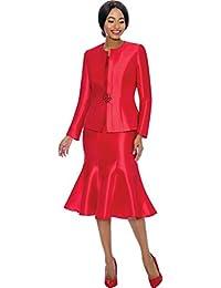 7689 Women's 3 Piece Classic Design Church Skirt Suit