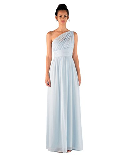 Miss Mint Women's One Shoulder Empire Waist Prom Dress Illusion Long 12 IceBlue (Ice Blue Contacts)