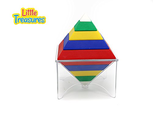 Little Treasures 101 Intelligence Devil Tower Creative Construction Toy Encourages Kids to Build and Learn