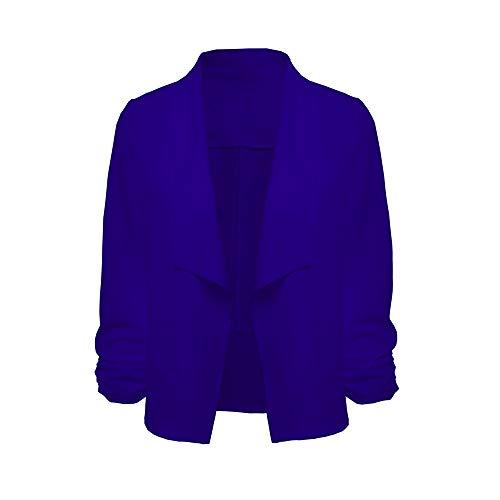 Long Hiver Chaud Grande Convenir Pardessus Costume Fille Autumne Manteau veston Complet Taille Chic Roulé Col Bleu Femme D'hiver Angelof PqZa6a