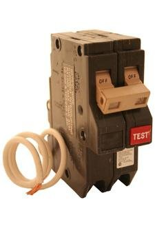 CH230GF EATON CUTLER HAMMER CH SERIES TAN HANDLE 30 AMP, 2 POLE, GFCI CIRCUIT BREAKER 2P 30A 10K by Cutler & Hammer