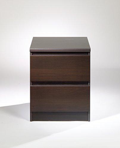 (Tvilum 7029120 Scottsdale 2 Drawer Nightstand, Coffee)