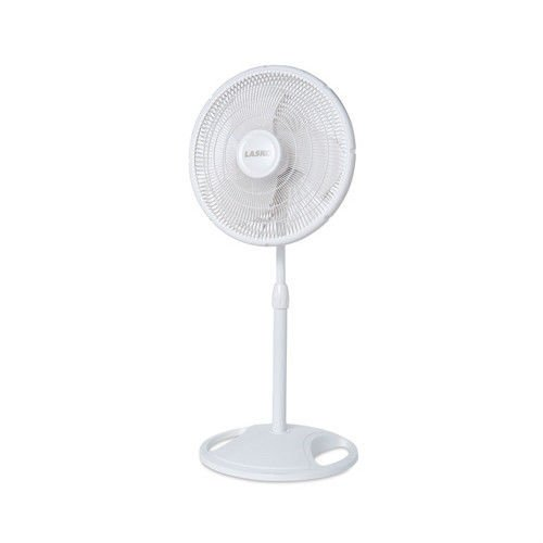 Lasko 2520 Compact 16'' Portable White Oscillating Pedestal Stand Fan by Lasko