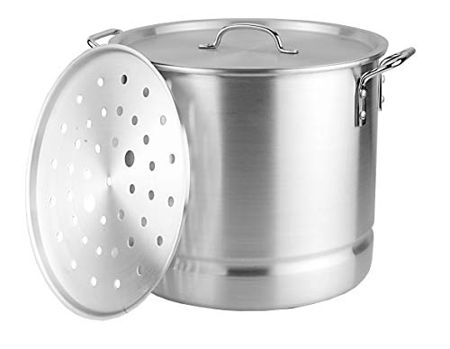 Kitchen Sense Aluminum Stock Pot with Steamer 16 quart (4 - Quart 16 Stock Pot Aluminum