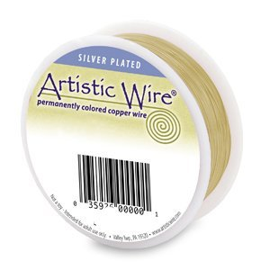 Artistic Wire Silver Plated Gold 20 gauge 1/4lb spool Round Wire