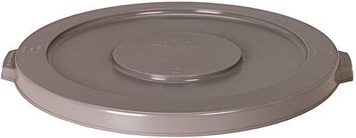 Continental 2001GY 20-Gallon Huskee LLDPE Waste Lid, Round, Grey
