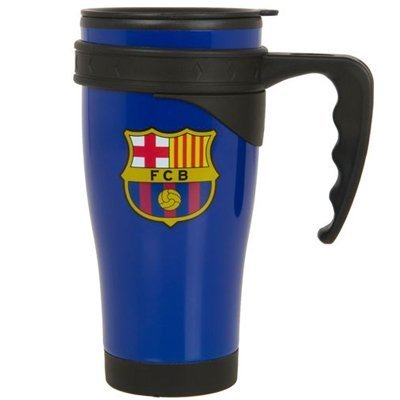 F.c. Barcelona Aluminium Travel Mug Bl- 450ml Aluminium Thermos Travel Mug- Official Licensed Product