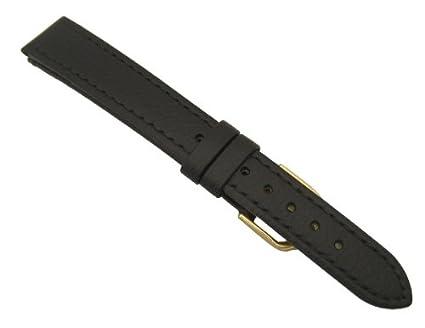 Condor 16 mm Correa para Reloj de piel de vetas de calcetines altos negro 501R01