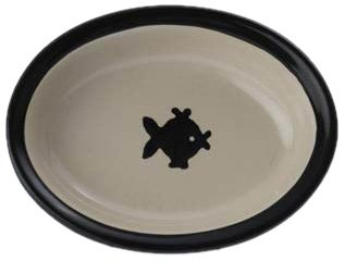 Petrageous Designs City Pets 6.25 Oval Dish, Fish