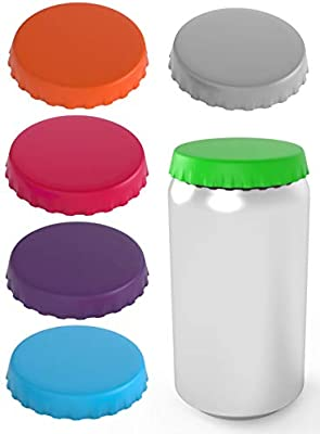 Silicone Soda Can Lids 6 pack – Shield your coke, beer, and pop cans from  flies, bees, and dust! – Spill saver - lid fits standard coke cans -  Perfect