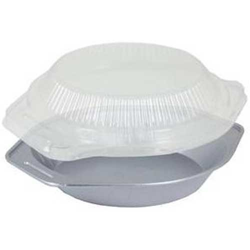 Handi Foil White Pie Pan with Dome Lid -- 50 per case.