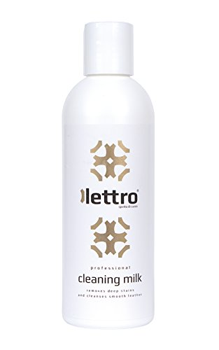 Lettro Cleaning Milk, powerful stain removal and cleaner for leather furniture, car seats, saddlery, bags, shoes and jackets, 200ml