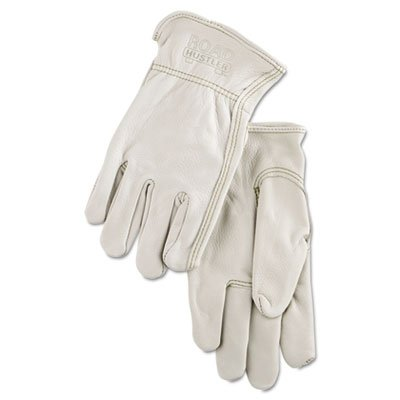 Full Leather Cow Grain Driver Gloves, Tan, Extra Large, 12 Pairs, Sold as 12 Each by Memphis