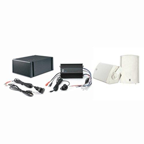 PolyPlanar MP3-KIT7-W Marine Audio Kit W/Amp Subwoofer Speakers & MP3 Input Consumer ()