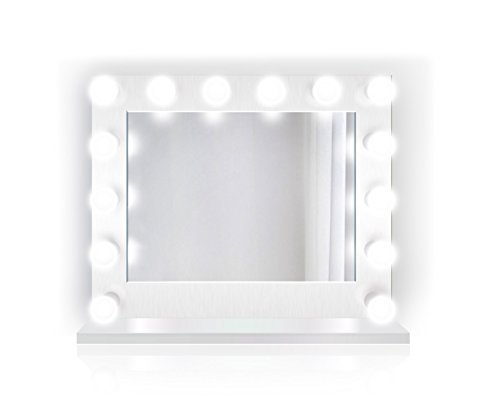 Krugg Lighted Hollywood Vanity Mirror | LED Makeup Mirror w outlets | -