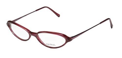 Vera Wang V47 Womens/Girls Cat Eye Full-rim Stunning Made In Italy Eyeglasses/Eyeglass Frame (50-15-130, Dark Fuchsia) (Designer Cat-eye-brillen)