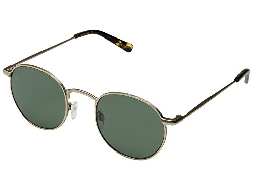 RAEN Optics Unisex Benson 48 Japanese Gold/Brindle Tortoise Green Polarized One - Benson Sunglasses