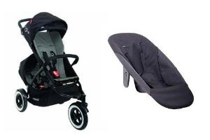Phil and Teds Dot Stroller WITH Doubles Kit and Face to Face Seat (Flint)