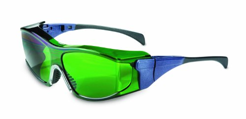Uvex S3153 Ambient OTG Safety Eyewear, Large Blue Frame, Shade 3.0 Ultra-Dura Hardcoat Lens
