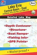 - Lake Erie Fishing Map: Central Basin - East. (Great Lakes Fishing Map Series, L293)