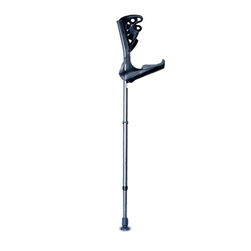 Aluminum Alloy Crutches Non-Slip, U-Shaped Elbow Forearm Crutches are Light and Adjustable, Underarm Crutches Absorb Sweat, Suitable for Patients with Leg Weakness,Black