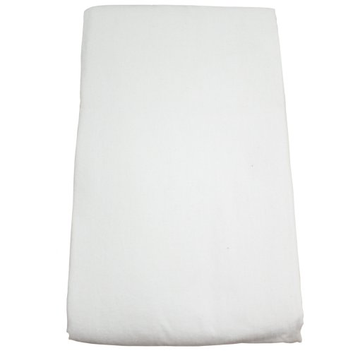 Body Linen Flannel Fitted Massage Sheet, White, 32