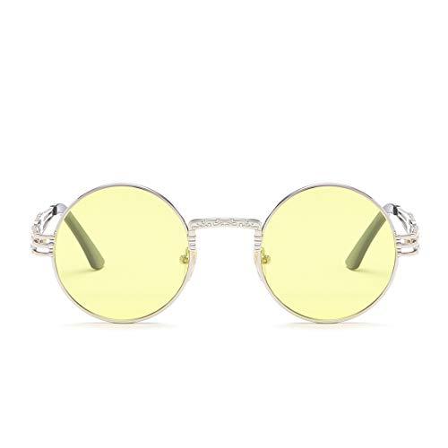 Silver Femme Soleil Couleur Pêche Yellow Silver Soleil Frame Classiques Vintage Lens De Lunettes Silver Lunettes Lens Lunettes De Femme de LBY De Soleil Frame Homme EHx4IwfcWq