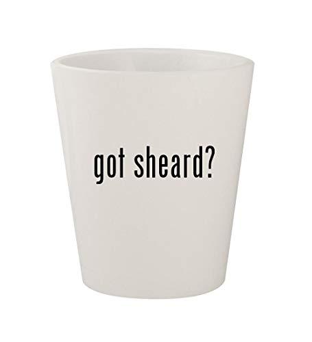 got sheard? - Ceramic White 1.5oz Shot Glass
