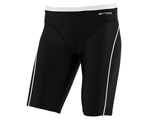 Orca Men's Core Swim Jammer (Large, Black/White)