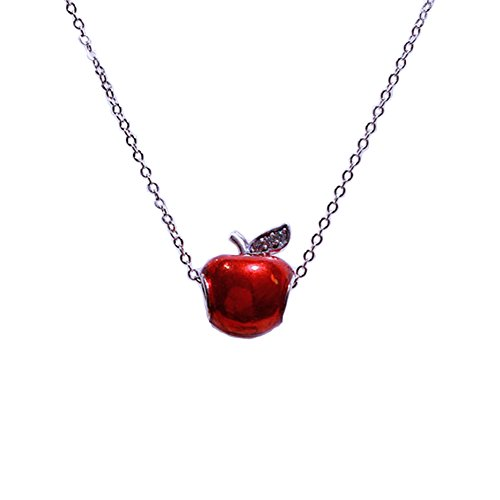 Original Evil Queen's Red Apple 925 Sterling Silver Necklace