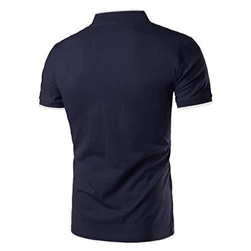 Debout Blouse Hip Confortable Été Cher Amlaiworld Hommes Chemises Lot Marque Courte Pas Fit Manche Noir Simple Polo Sport Hop Slim Col Couleur wqwzYg