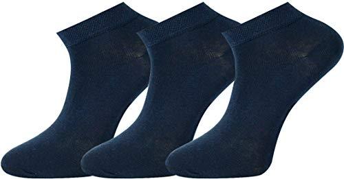 Mysocks Unisex Plain Trainer Socks 3 Pairs Navy