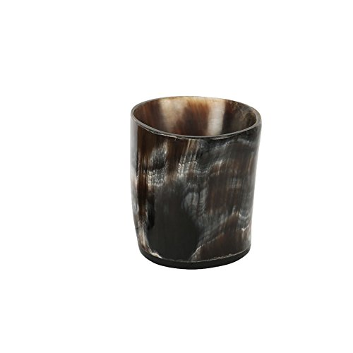 PARIJAT HANDICRAFT Viking Drinking Horn Authentic Medieval Mead Cup- Leak Free Beer Beaker- Handmade Stein Mug Shot Glass