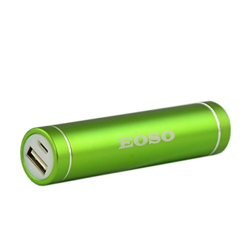 Eoso 2600mah Lipstick Sized Power Bank - High Capacity Portable Charger External Battery Power Bank for Iphone, Samsung, Htc, Nokia, Lg, Sony, Blackberry and More (Lipstick sized Green)