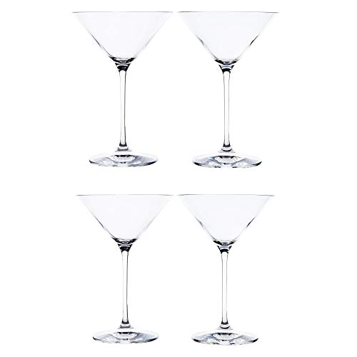 Riedel Bar Vinum XL Leaded Crystal Martini Glass, Set of 4