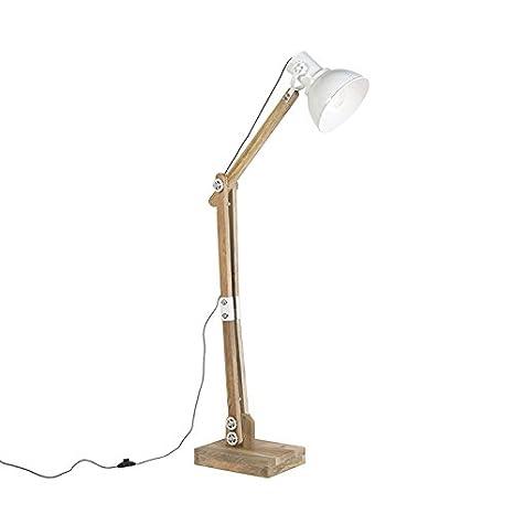Light and Living rústico Lámpara de pie natural rústica ...