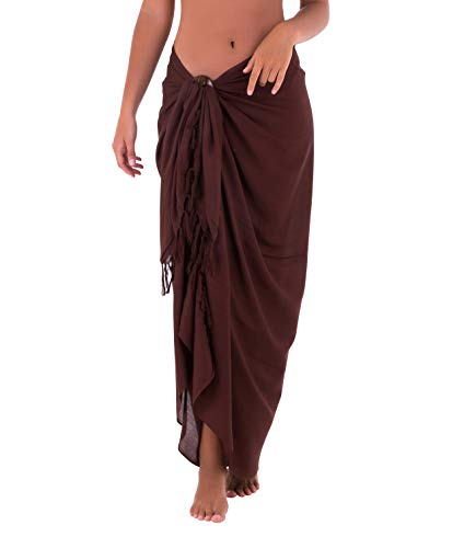Shu-Shi Womens Beach Cover Up Sarong Swimsuit Cover-Up, Brown, One Size,Brown,One Size