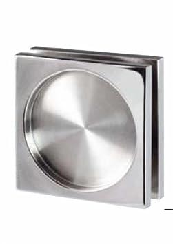 Tirador puerta cristal con adhesivo doble cara incluido. Inoxidable. Venta por juegos de 2 unidades. (Brillo) CBM